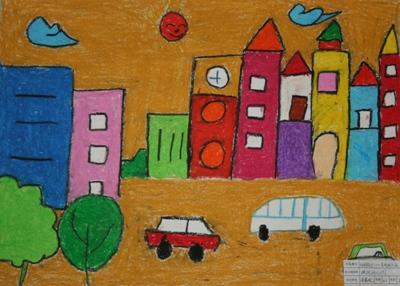 我的家乡儿童画三年级_画画大全图片