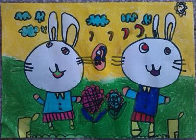 幼儿园宝贝的新年愿望图画