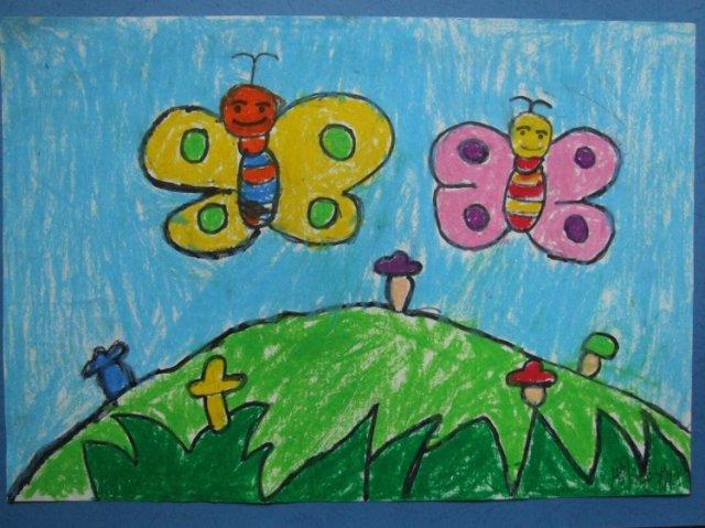 幼儿绘画作品图片中班