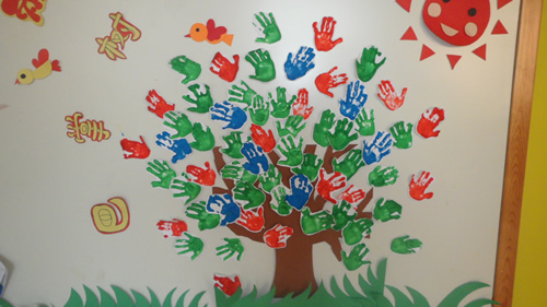 手掌树绘画